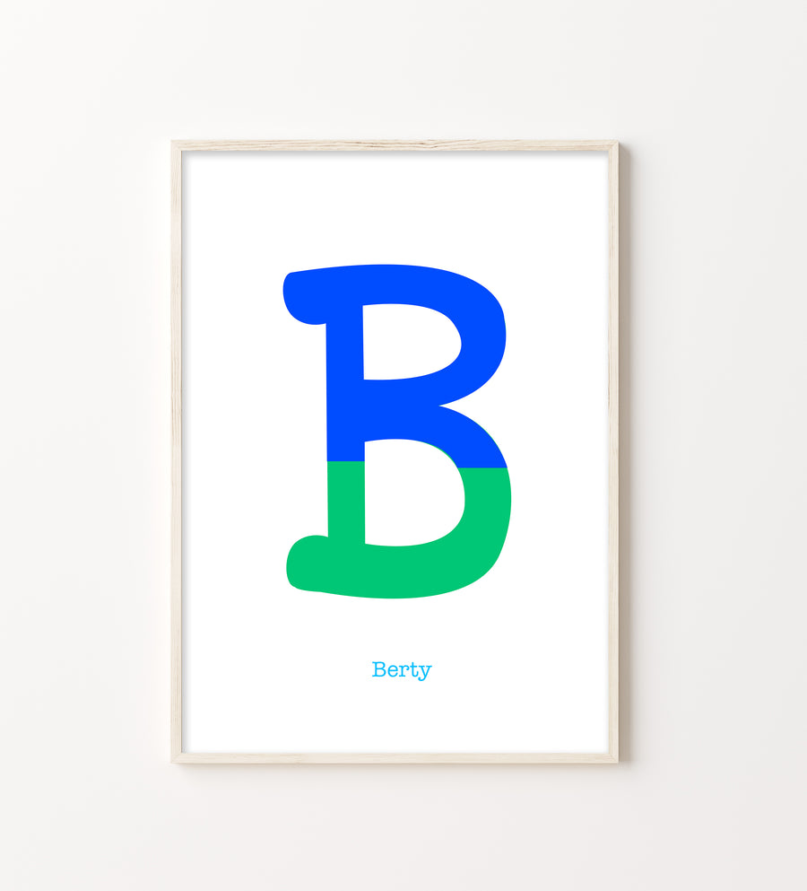 Two Tone Letter B Print-Art-Little Fish Co.