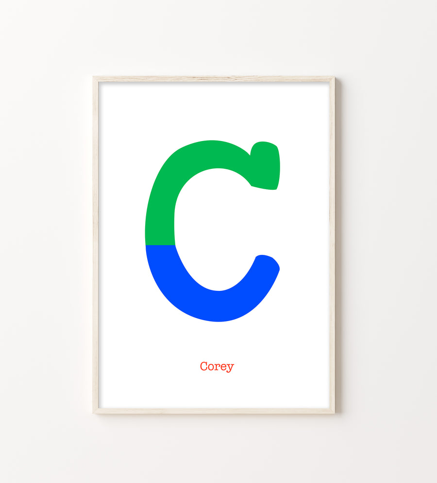 Two Tone Letter C Print-Art-Little Fish Co.
