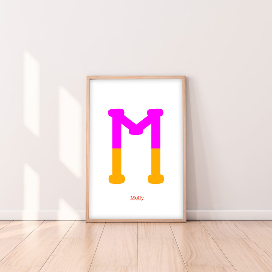Two Tone Letter M Print-Art-Little Fish Co.