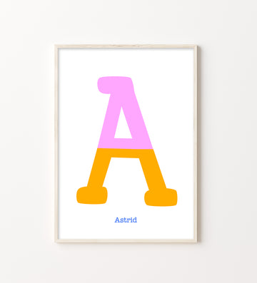 Two Tone Letter A Print-Art-Little Fish Co.