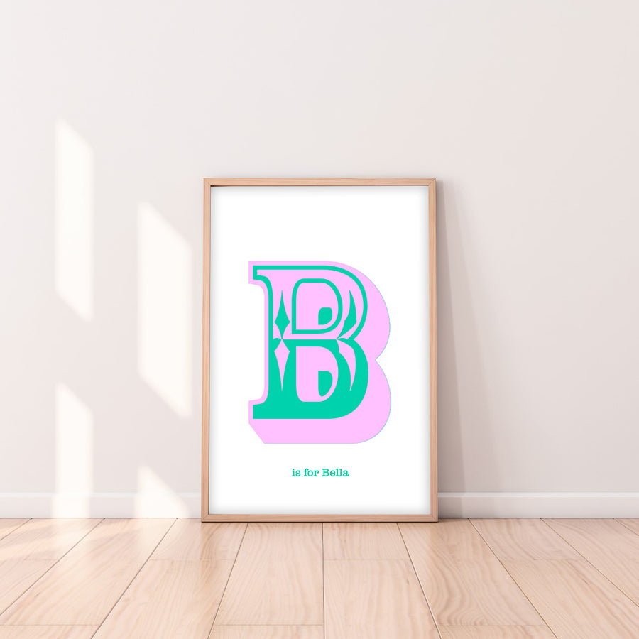 Western Lilac Letter B print-Art-Little Fish Co.