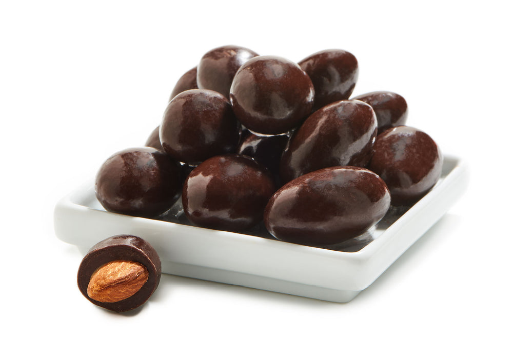 Chocolate Covered Almonds.