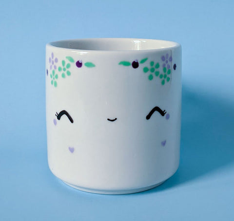Soy candle - Coffee mug - Little blueberry