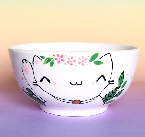 Large bowl - Lucky cat