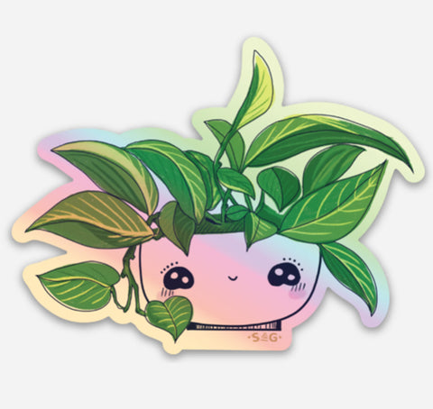 Mug Sticker - Pothos