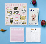 Mini coffret papeterie - Chats