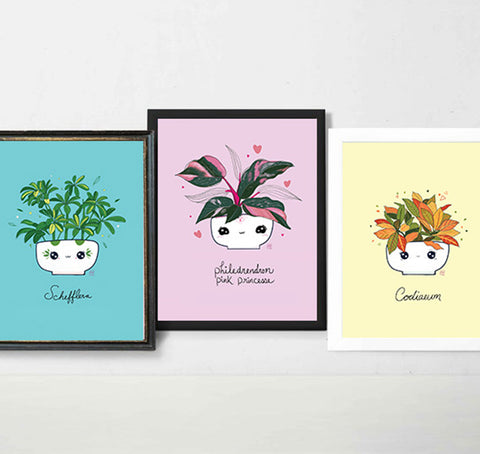 Posters - Plants - Triptych