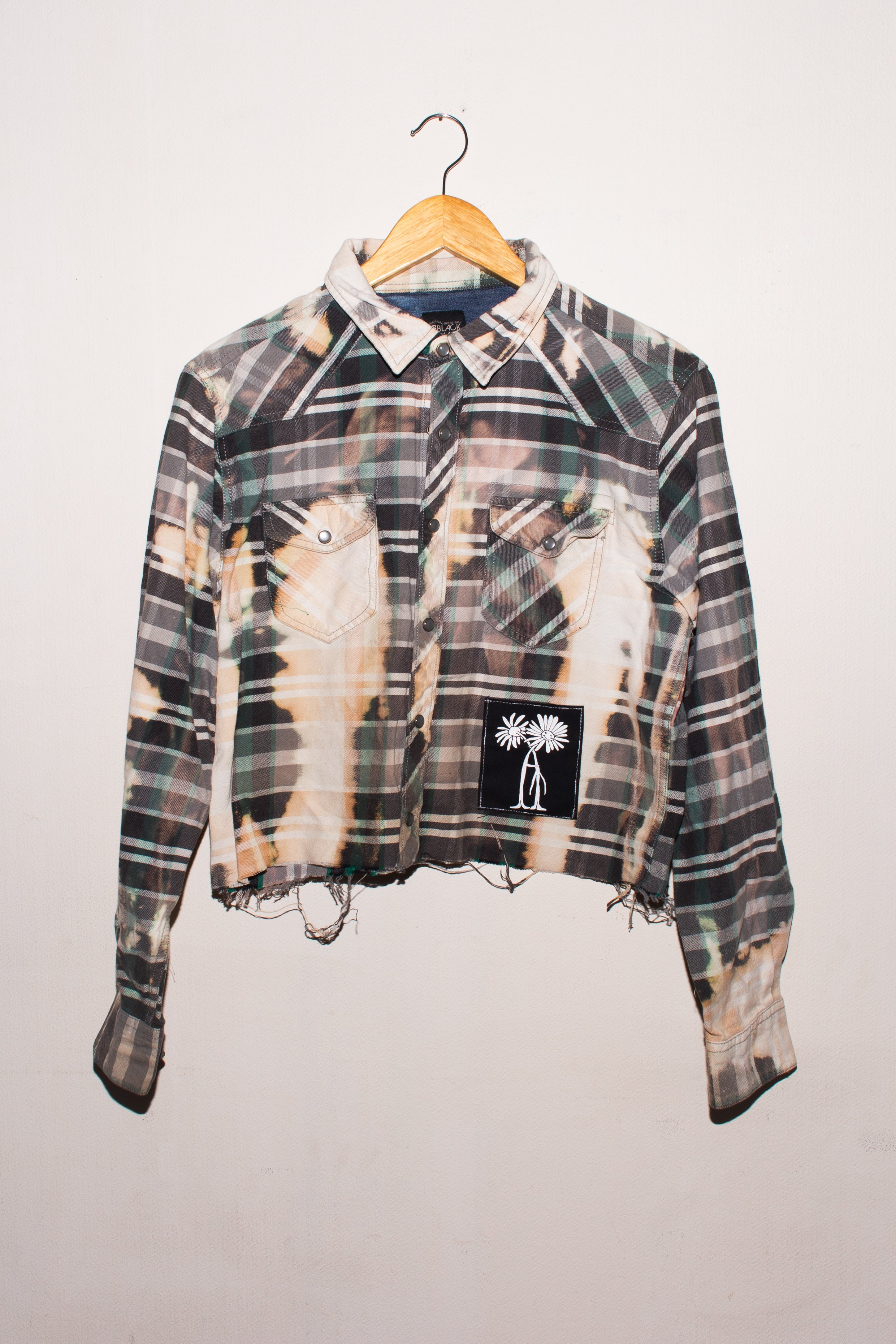 Blackjack cropped flannel