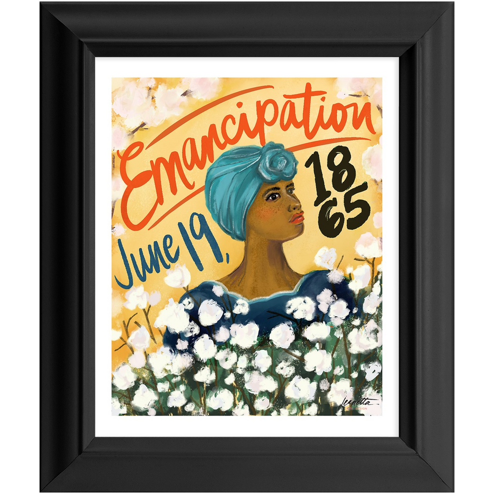 "Load image into Gallery viewer, ""Juneteenth"" Framed 8x10 Art Print (color option)"