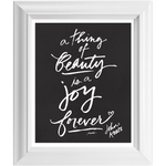 """A Thing of Beauty"" Keats Quote 8x10 Framed Art"