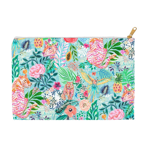 "Zipper Accessory Pouch - ""Wildwood"" Design (2 sizes)"