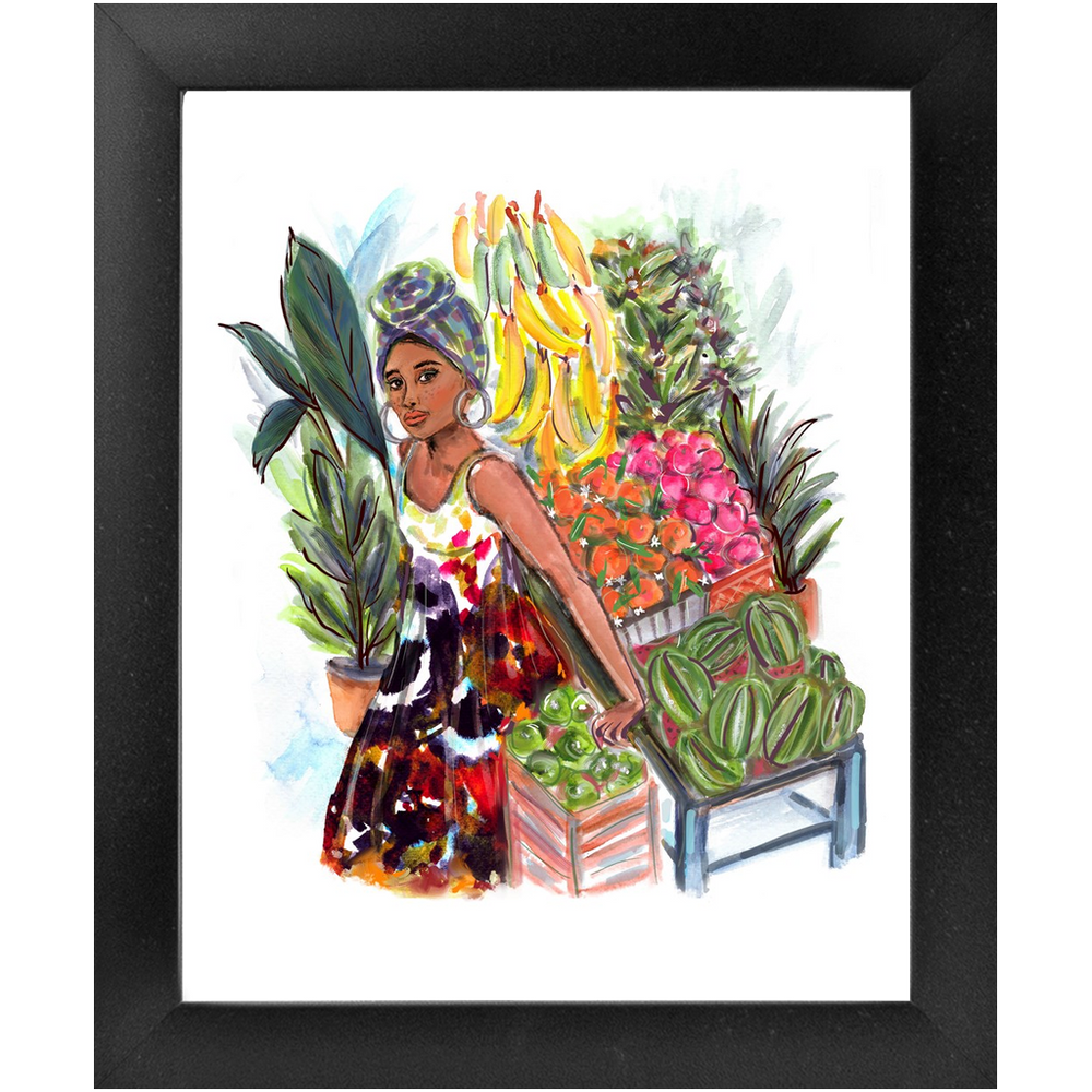 "Load image into Gallery viewer, ""Havana Girl"" Framed 8x10 Art Print (2 colors)"