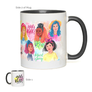 """Girls Rule"" 11oz Ceramic Mug"