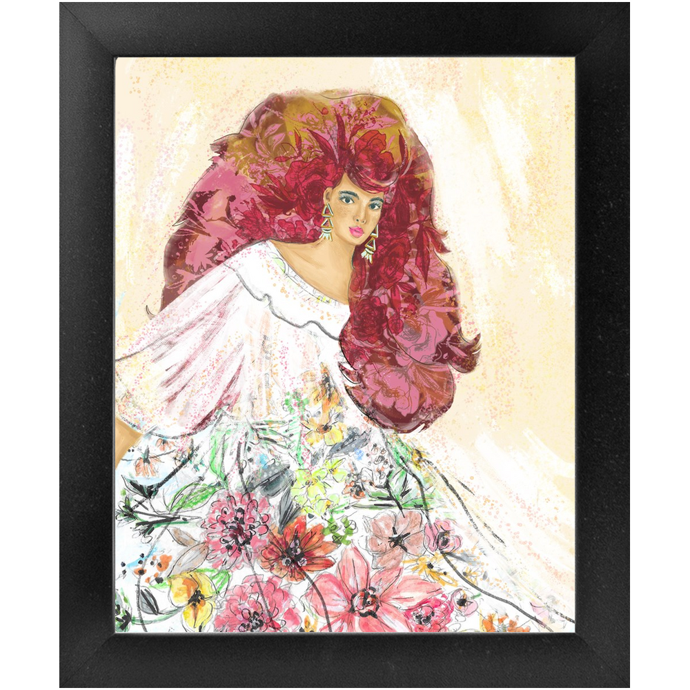 "Load image into Gallery viewer, ""Lady D"" 8x10 Framed Art Print (2 colors)"