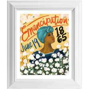 """Juneteenth"" Framed 8x10 Art Print (color option)"