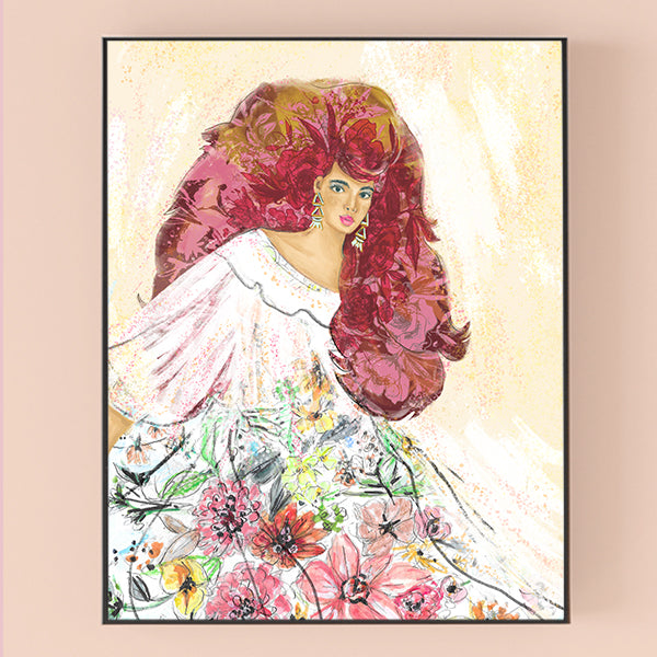 "Load image into Gallery viewer, ""Lady D"" 8x10 Art Print"