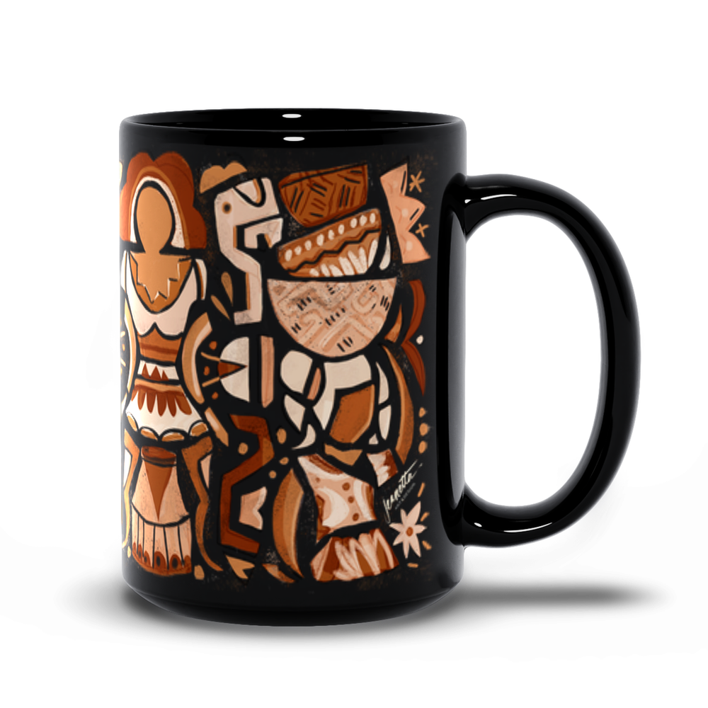"""Ancestor"" 15oz. Black Mug"