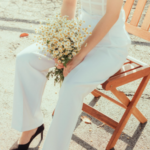 Nomu Nomu High Waist Long Pants in White