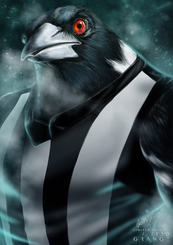'The Infamous Collingwood Magpie' Print By Grange Wallis