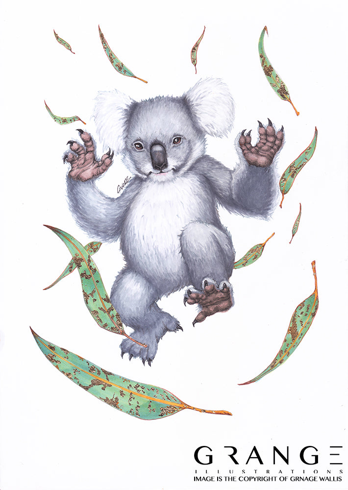 The Koala & Their Precious Eucalyptus (Original Artwork)