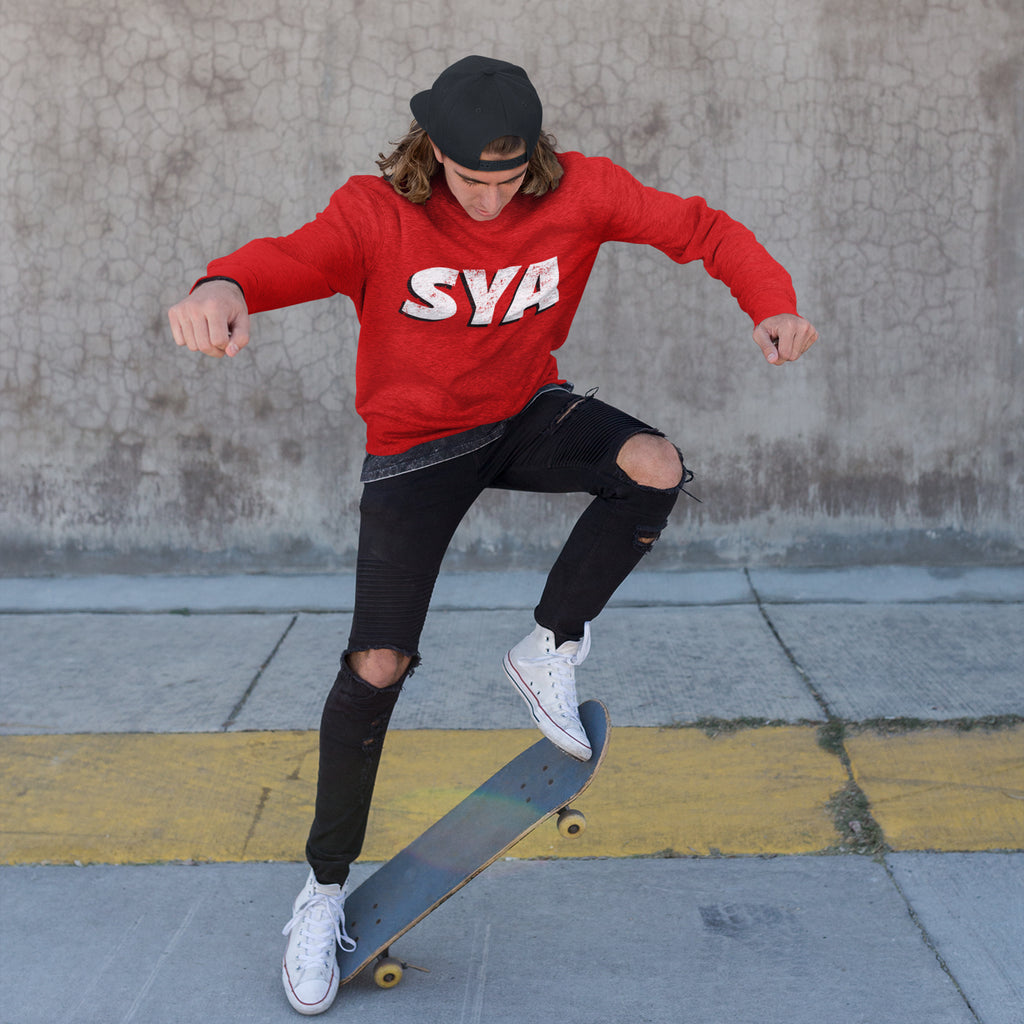 SYA Grunge Sweatshirt Red