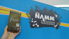 Fresco goes to the NAMM Show!!  Great snack while walking the aisles.