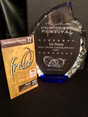 2016 1st Place Best Origin Chocolate Bar at the Northwest Chocolate Festival