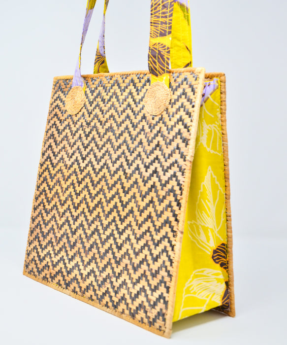Banana Panel Pop-Up Bag - Golden Floral