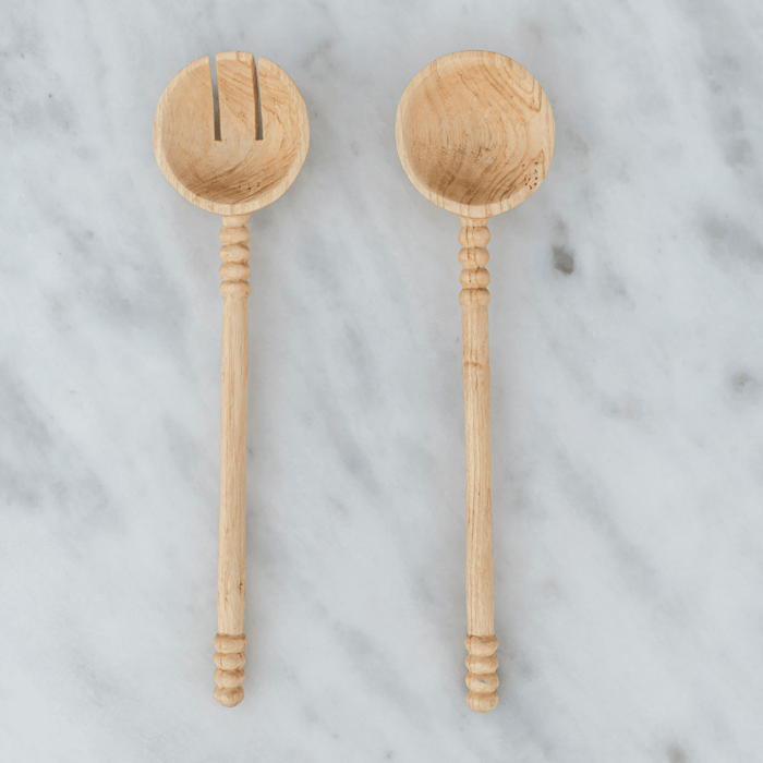 Hand Carved Wooden Serving Spoons