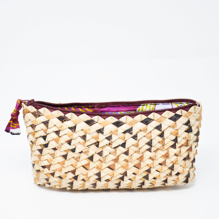 Palm Leaf Phone Purse - Violet Accent