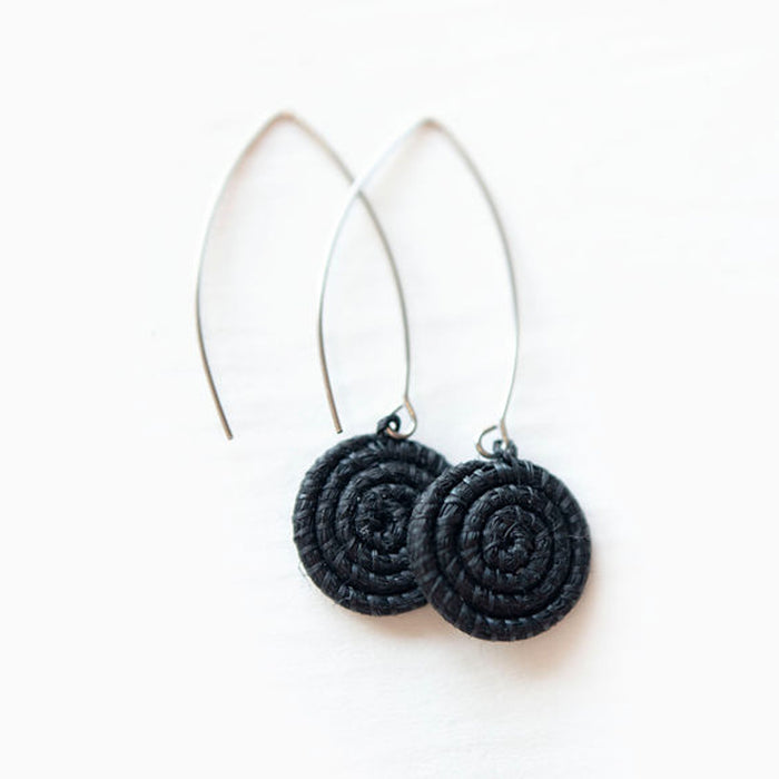 Ziga Woven Earrings - Black