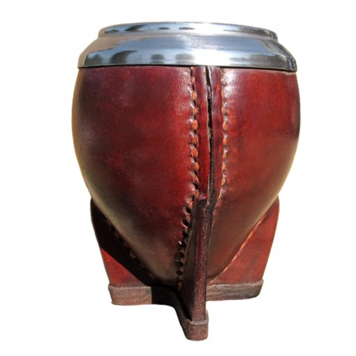 Leather Mate Cup With Metal Rim