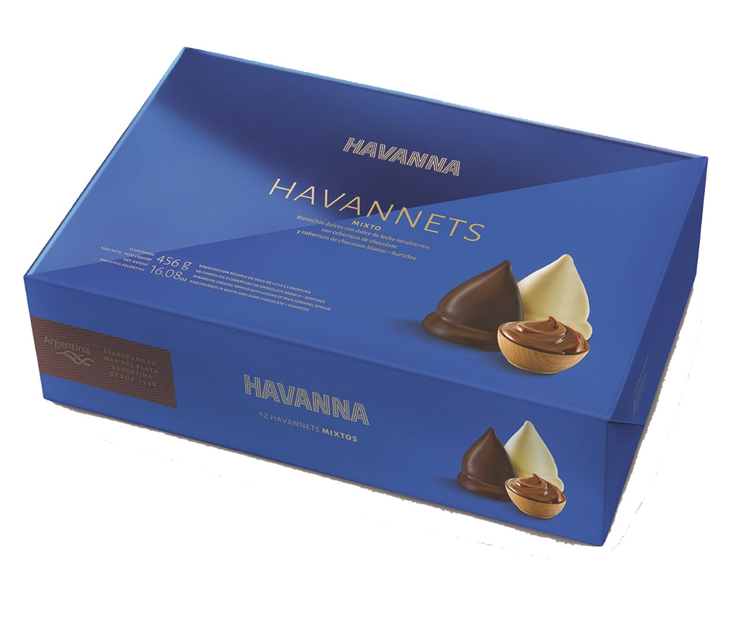 Havanna Havannets White and Milk Chocolate Cones x12