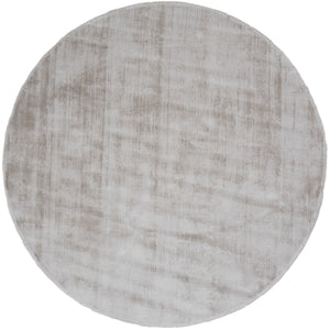 Karpet Viscose Rond Light Grey ø200 cm
