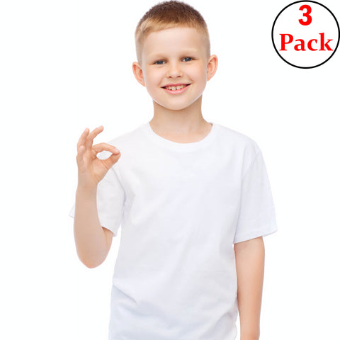 100% Cotton Boys' Crewneck Undershirt
