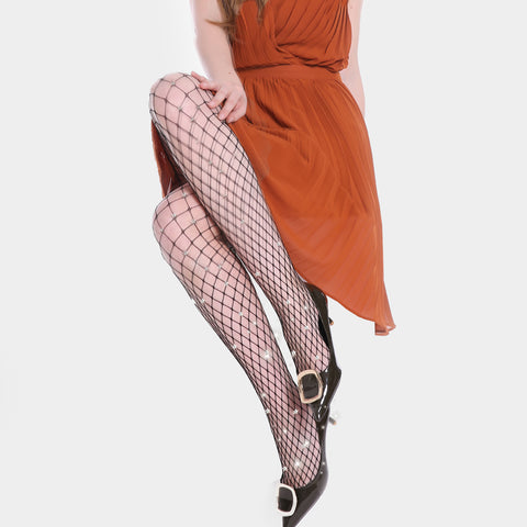 Strass Fashion Large-Fishnet 80 Den, Pantyhose