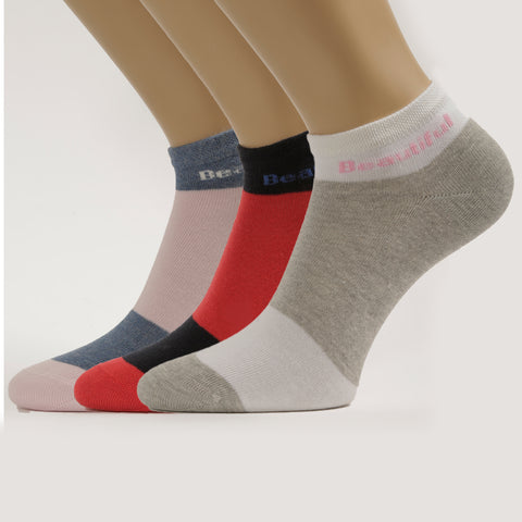 3-Pack Women No-Show Patterned, Sport Cotton socks