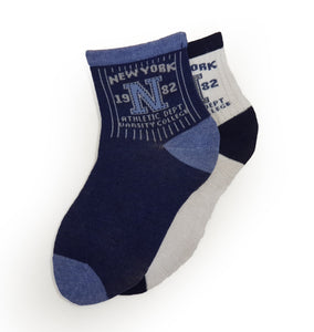 2-Pack Crew Patterned Cotton Socks