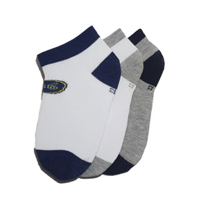 3-Pack No-Show Patterned Cotton Socks