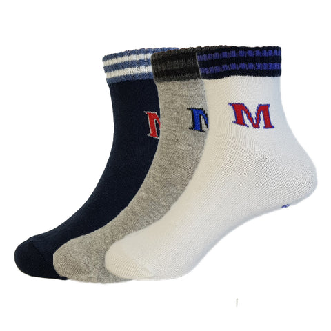 3-Pack Crew Patterned 501 Style Socks