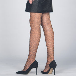 Fashion Tiger Style, Ultra sheer 15 Den Patterned, Reinforced Toe Pantyhose