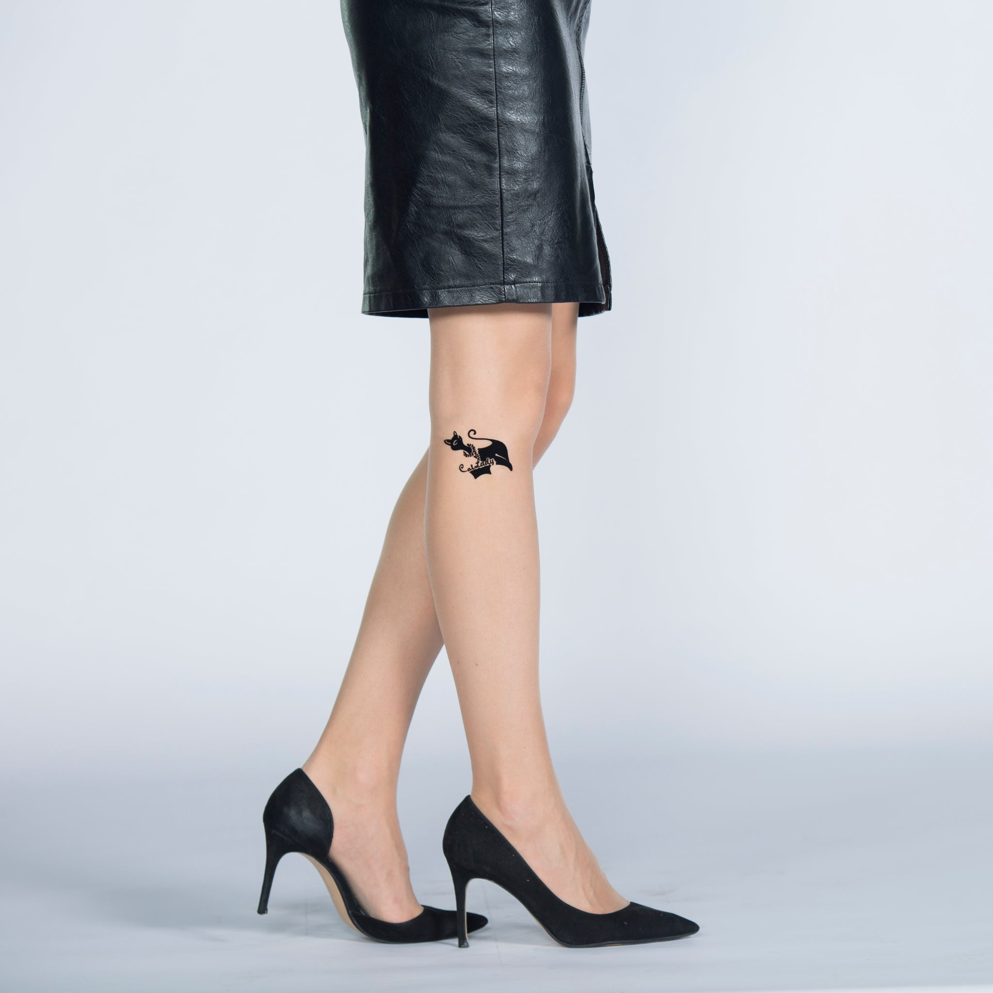 Tattoo 15 Den, Silk Reflections, Reinforced Toe Pantyhose
