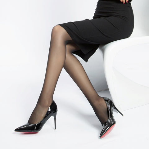 Perfect Ultra Sheer 20 Den, Velvet Touch Control Top, Reinforced Toe Pantyhose
