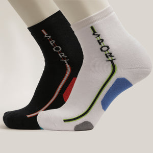 2-Pack Men Crew Patterned Sport Cotton, socks