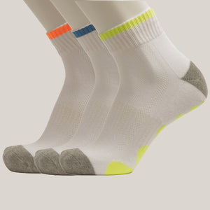 3-Pack Men Crew Patterned Sport Cotton socks