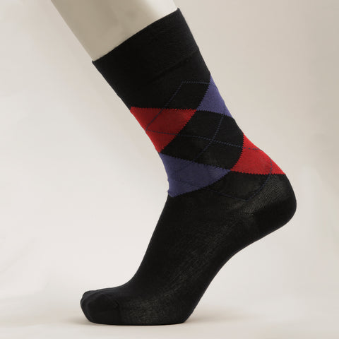 Men Crew Patterned formal Socks
