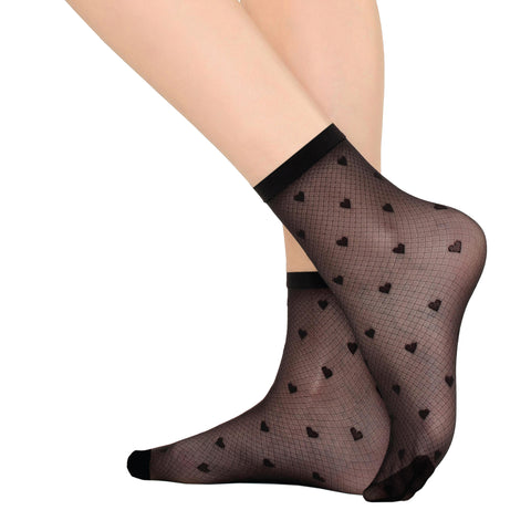 Fashion, Berry Style, Ultra Sheer 20 Den Patterned Socks