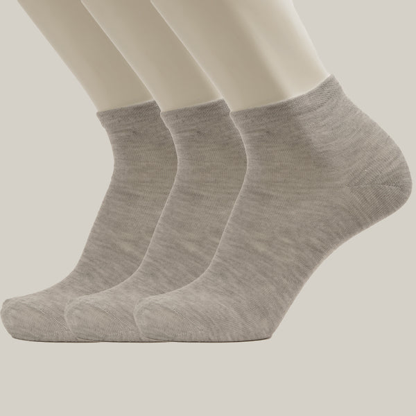 3-Pack Men Ankle Simple Sport Cotton socks