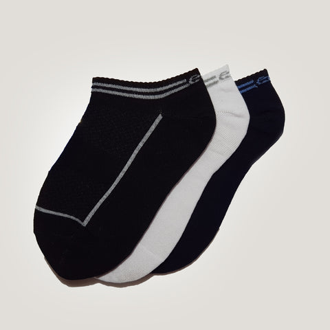 3-Pack Men, No-Show, Patterned, Sport Cotton Socks