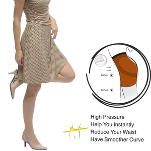Push Up Summer Tight, Semi Sheer 30 Den Silk Reflections, Sandal Foot